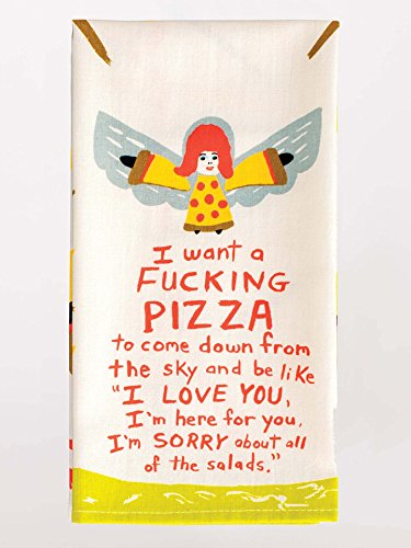 Blue Q I Want A Pizza Dish Towel by Blue Q