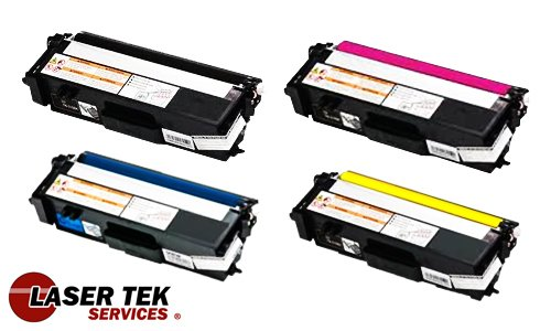 Laser Tek Services High Yield Toner Cartridge 4 Pack Compatible with Brother HL-4570cdw TN315BK TN315C TN315Y TN315M, Office Central