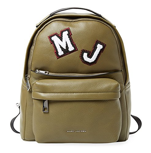 Marc Jacobs Large Leather Backpack (Olive/Patch (Marc Jacobs Olive)