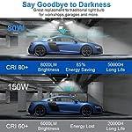Aipsun LED Garage Light 2 Pack 80W Black Deformable Garage Ceiling Light 8000LM E26/E27 LED Light Bulbs for Workshop… 9