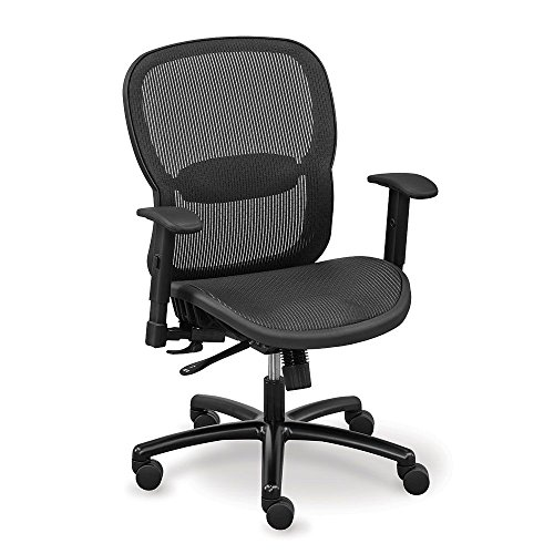 Big and Tall Black Computer Chair in Mesh - Linear Collectio