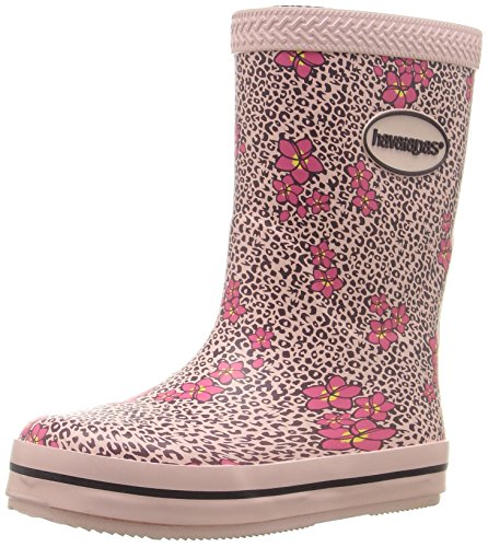 Havaianas Girls' Galochas Kids Prints Rain Pull-On Boot, Crystal Rose, 24 BR(9 M US - Boots Havaianas