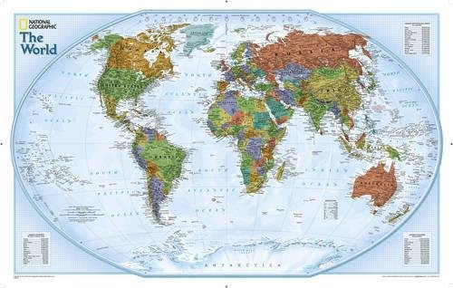 Map Laminated Explorer - National Geographic: World Explorer Wall Map - Laminated (32 x 20 inches) (National Geographic Reference Map)