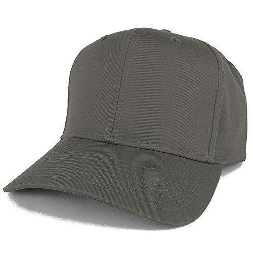 Armycrew XXL Oversize High Crown Adjustable Plain Solid Baseball Cap - Charcoal ()