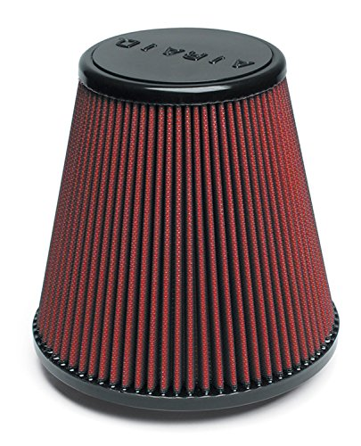 Airaid 701-445 Universal Clamp-On Air Filter: Round Tapered; 4.5 in (114 mm) Flange ID; 7.5 in (191 mm) Height; 8 in (203 mm) Base; 5 in (127 mm) Top