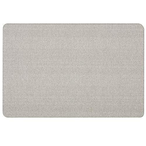 Quartet Bulletin Board, Fabric, 3' x 2', Frameless, Fiberboard, Oval Office, Gray (7683G)