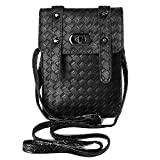 VanGoddy Vertical Hybrid Slim Fit Crossbody Pouch Bag for Sony Xperia XA / X / C5 Ultra / C4 / Z5 Compact / M5 / M4 Aqua / Z4v / Z3+ / E4 / E4g (Black)