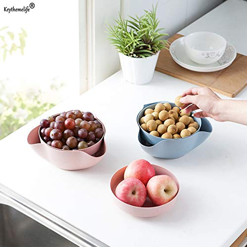 Candy Compote - Kitchen Tray - 1pcs Fruit Compote Split Double Bowl Candy Snack Nuts Box Holder Tray Dish Decoration 1c5 - Puzzle Office Divided Drawers Pink Metal Pantry Desk Jewelry Shelves Shop Counte