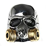 Bishilin Jewelry Men's Rings Stainless Steel High Polished Skull Rings Gold Size 11