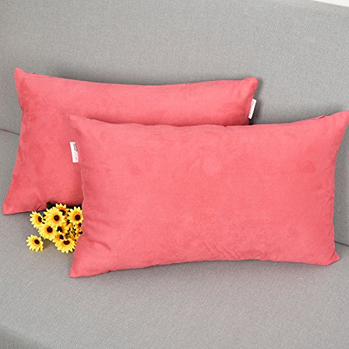 (2 Pieces Luxury Velvet Rectangle Toss Pillow Cushion Covers for Women by Natus Weaver, 12