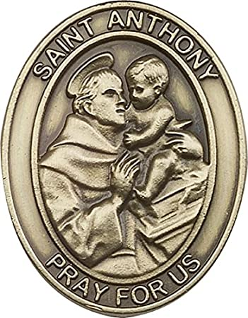 F A Dumont Antique Silver St Anthony Visor Clip Bliss