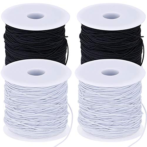 - Zonon 4 Rolls 0.8 mm Elastic String Cord Elastic Thread Beading String Cord for Jewelry Making, Bracelets Beading, DIY Crafts 100 Meters/Roll(Black and White
