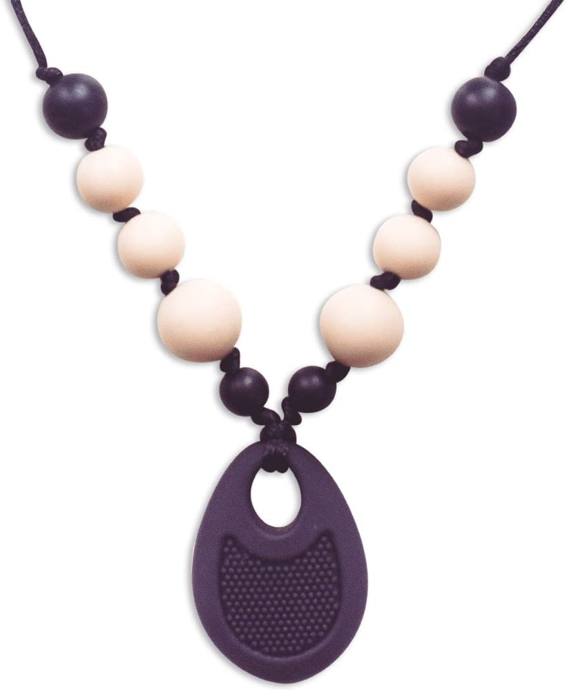 Teething Necklace For Mums To Wear /& Baby To Chew Chewbeads Chewlery Teether GR