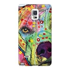 Samsung Galaxy Note 4 UTu17165DuUC Provide Private Custom Attractive Pit Bull Dean Russo Pattern Bumper Hard Phone Covers -LauraAdamicska