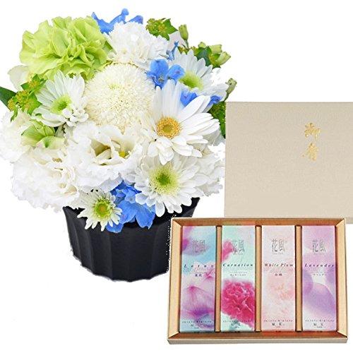 日本香道のお線香 花風アソート 進物4箱入 生花 お供えアレンジメント セット B077D4BLWB