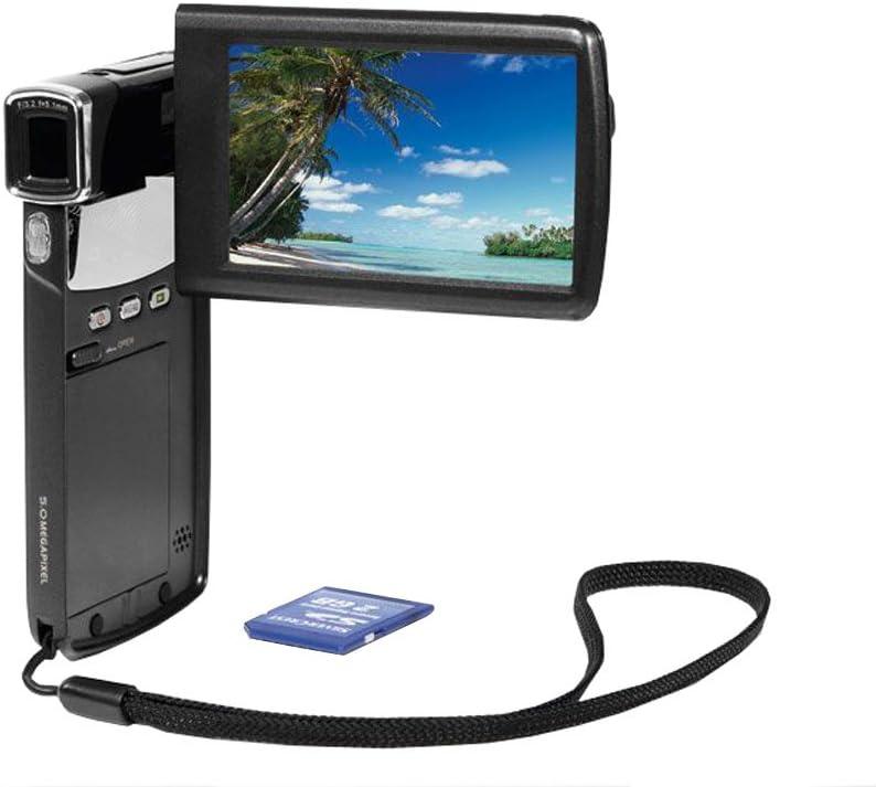 Digital Videocámara Full HD Pocket Slim Design Zoom Digital 4x Aprox. 7,5cm de la Pantalla