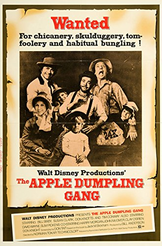 The Apple Dumpling Gang 1975 Authentic Original Movie Poster Very Fine Don Knotts Western