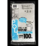 システムポリマー 三角コーナー用水切り袋 半透明 100枚 HB-100