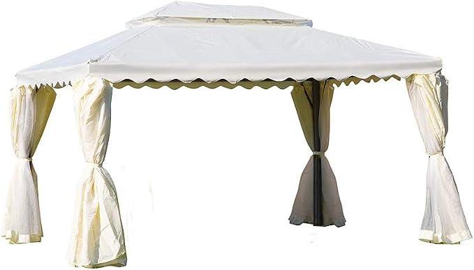 ERREBI Cenador blanco de 3 x 4 m, de poli+ PVC, para tienda ...