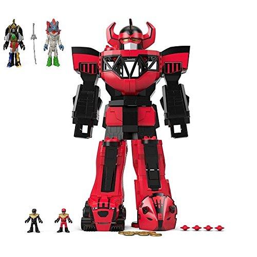 BUNDLE Imaginext Power Rangers Morphin Megazord Red + Imaginext Power Rangers Thunder Megazord & Pirantishead GIFT SET (Fisher Price Imaginext Power Rangers Morphin Megazord)