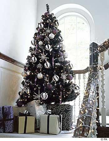 Beautiful fake Black Christmas tree