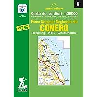 Parco naturale regionale del Conero. Trekking, MTB, cicloturismo. Carta dei sentieri n. 6 1:25.000 e carta dei sentieri 1:10.000