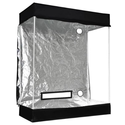 510fCSVlLrL - Approx. 4x2x5 Ft Interior Waterproof Diamond Mylar Reflective Hydroponics Grow Tent Cover Cabinet w/ Metal Construction & 210D Oxford for Outdoor Plant Flower Growing Tents