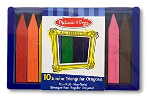 Jumbo Triangular Crayon (Set of 10) [Set of 2]