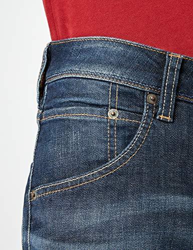 593 Bleu dark Straight Michigan Rinse Jeans Used Homme Mustang qa8IRw