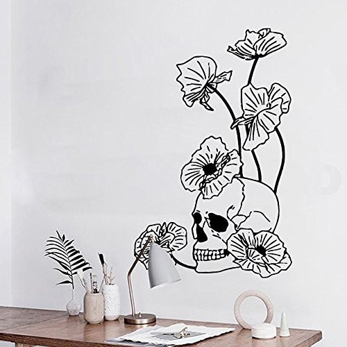 OTTATAT Wall Stickers for Bathrooms 2019,Halloween Skeleton Background Decorated Living Room Bedroom s BK Easy to Peel Wedding Anniversary HolidayGift for boy Free Deliver Clearance]()