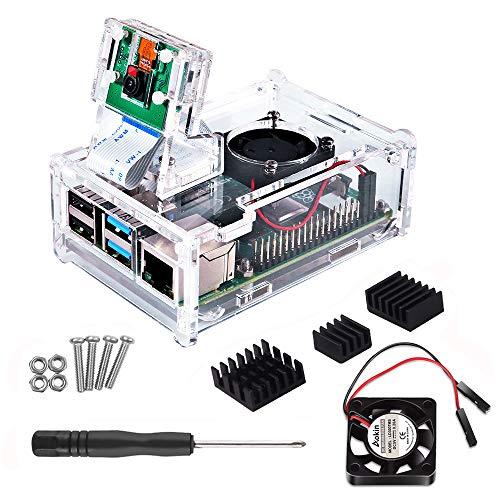 Raspberry Pi 2 Model B,Pi B+ NA Case for Raspberry Pi 3 Model B+ Compatible with Raspberry Pi 3 Model B Dorhea Raspberry Pi 3 Model B Case with Cooling Fan and Heatsinks