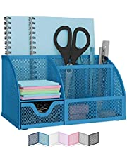 NEATERIZE Home Office Desk Organizer - Caddy for Organizing Makes the Perfect Kitchen Organizer or Pen Holder and Notebook Organizer for Desk - Durable Desk Accessories and Workplace Organizer