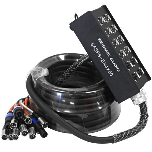 SEISMIC AUDIO - SASPS-8x4x50 - Powered Snake Cable - 8 Channel XLR - 4 Channel Speakon Speaker Cable - 50 Feet by Seismic Audio