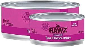 Rawz Shredded Meat Canned Cat Food (Tuna & Salmon)