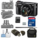 Canon PowerShot G7 X Mark II Digital Camera Wi-Fi Enabled + 32GB High Speed SD Card + Camera Case + Card Reader + Cleaning Kit - International Version