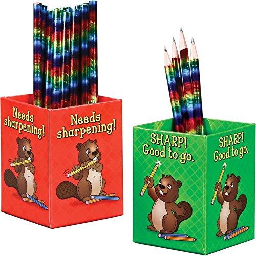 Really Good Stuff Sharp! and Needs Sharpening! Classroom Pencil Organization Cups ()
