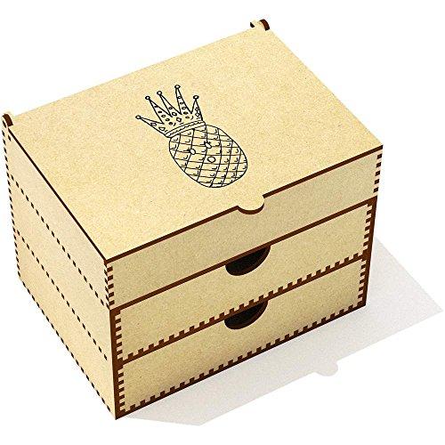 (Azeeda 'Pinapple Queen' Vanity Case / Makeup Box (VC00017001))