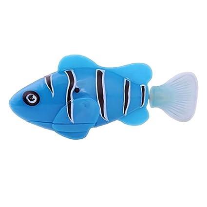 1 robusto juguete electrónico activado a pilas para niños robot mascota Magical Novel Turbot Natación Clownfish