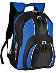 World Traveler Spiffy 17 Inch Laptop Backpack, Blue, One Size