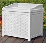 Large Latching Box For Storage With Seat, Color White, Multi-Purpose, Plenty Of Space, Modern And Practical Design, Resilient And Durable Construction, Flexible For Both Indoors And Outdoors & E-Book.