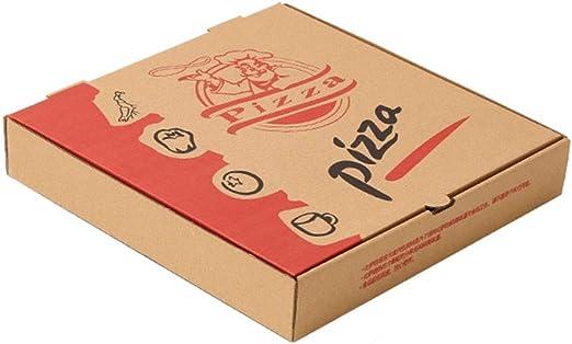 FGSJEJ Cuadro de Pizza, Caja de Embalaje de Pizza Corrugado, Caja de Almacenamiento de Alimentos, desechable, Caja de envasado de Alimentos de Aperitivos, Caja de la Torta del Papel, 100pcs: Amazon.es: Hogar
