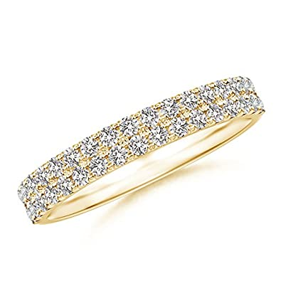 Angara Womens Half Eternity Double Row Diamond Wedding Band X0Xf2Vu0