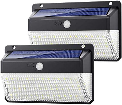 Yacikos Luce Solare LED Esterno 108 LED, [270°-Super Luminoso-2200mAh] Lampada Solare con Sensore di Movimento Luci Solari da Parete Impermeabile Solare con 3 Modalità per Giardino-2 Pezzi