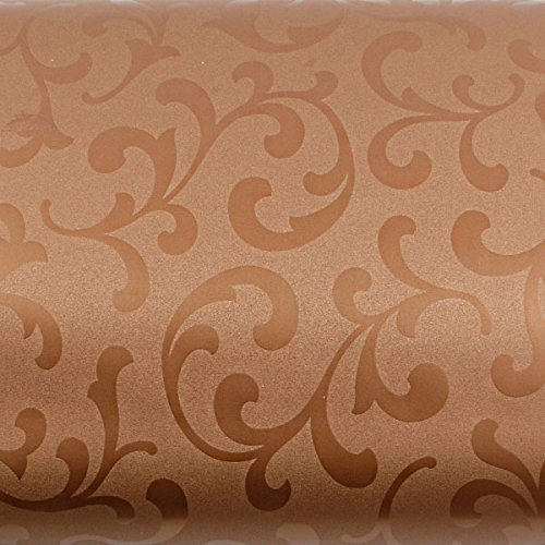 ROSEROSA Peel & Stick Backsplash Papyrus Victoria Damask Oriental Paper Textured Vinyl Contact paper Interior Film Shelf Liner Table and Door Reform (MG5156-2 : 1.96 Feet X 8.20 Feet) by ROSEROSA