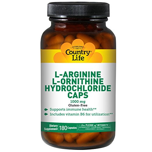 Country Life L-Arginine/L-Ornithine, 180 capsules by Country Life