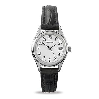 b5178e84f99b Sekonda Women's Quartz Watch with White Dial Analogue Display and Black  Leather Strap 4081.27: Sekonda: Amazon.co.uk: Watches