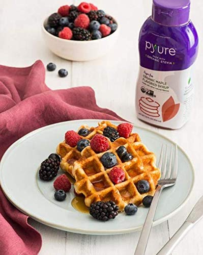 Pyure Organic Maple Flavored Syrup, Sugar Free, Low Net Carbs, Pancake Syrup, Keto, 14 Fluid Ounce