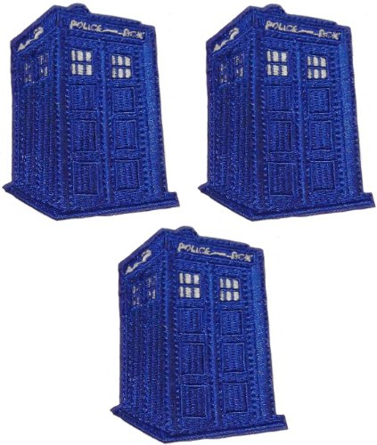 Doctor Who Blue Tardis Set of 3 Patches 2