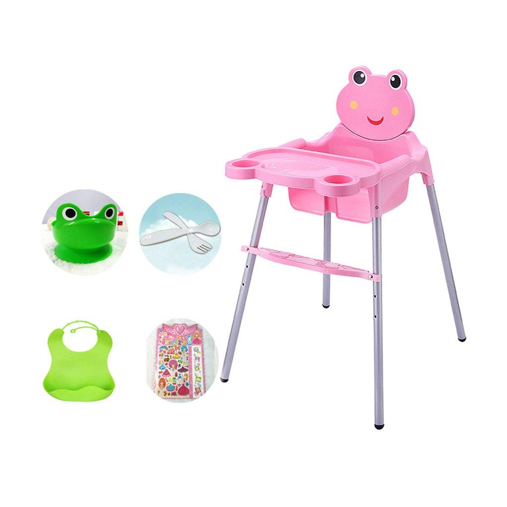 ポータブルベビーチェア、調節可能な赤ちゃんの給餌マット、子供のプラスチック伸縮性の高いチェア、キッズ多機能夕食テーブル、0-5歳に適し、L53 * W60cm * H89cm ( Color : Red )  Red B07CCZJGMP