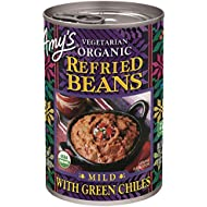 Amy's Organic Refried Beans, Mild with Green Chiles, 15.4 Ounce (Pack of 12)